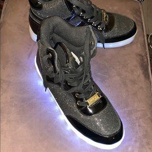 Shoes - Bebe Sport Krysten Light Up Hi-Tops 9